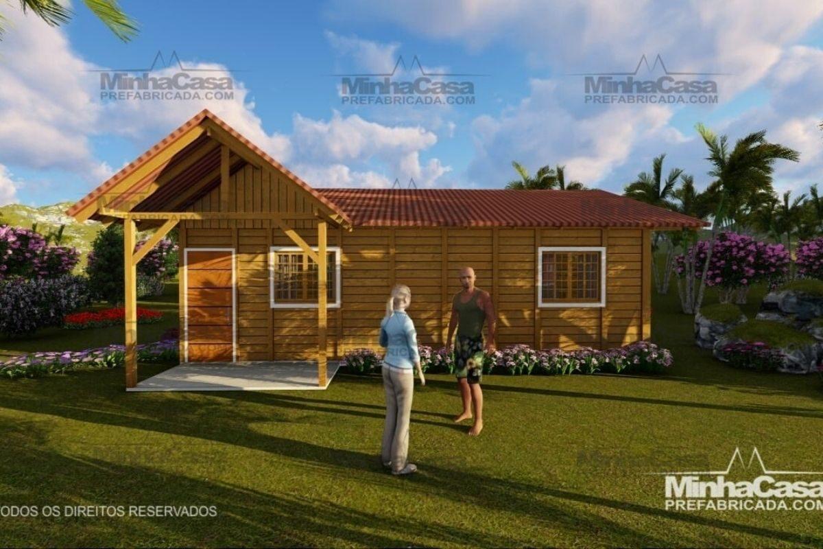 casas de madeira por menos de R$25 mil modelo pop 1.1