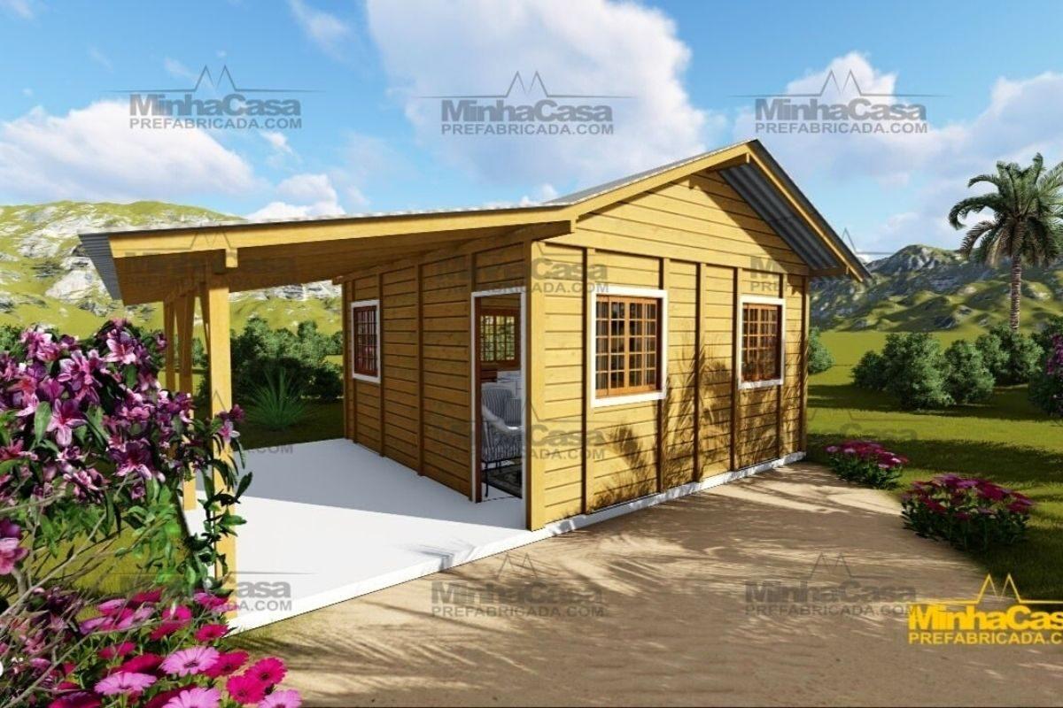 casas de madeira por menos de R$25 mil modelo pop 1.o
