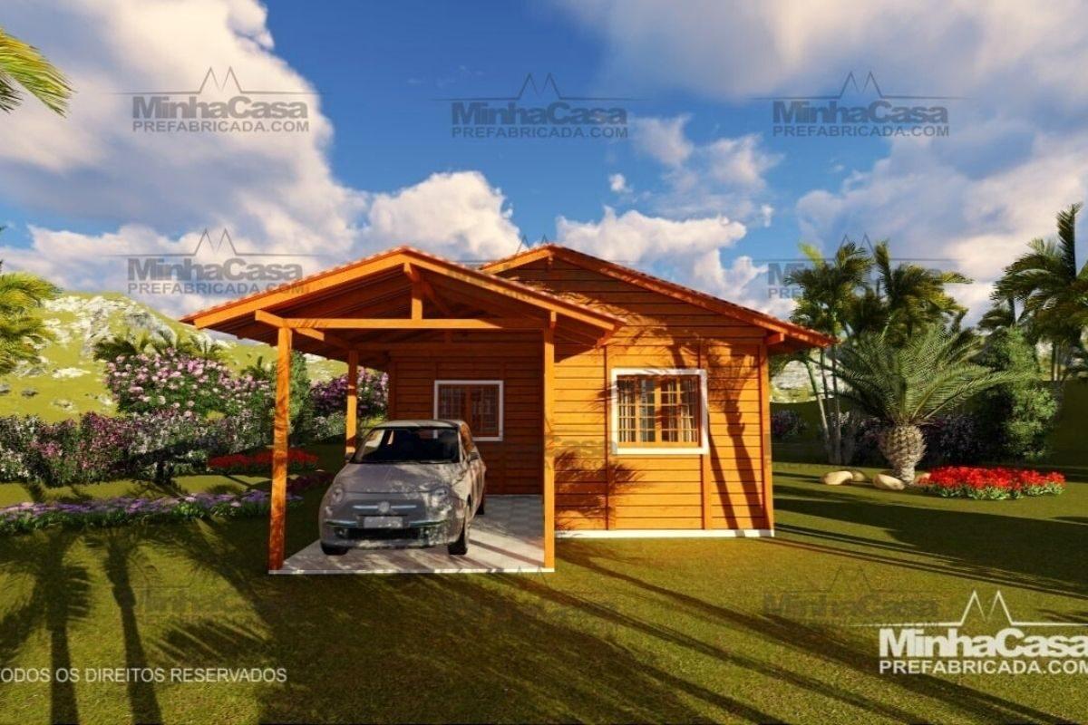 casas de madeira por menos de R$25 mil modelo pop 2.1