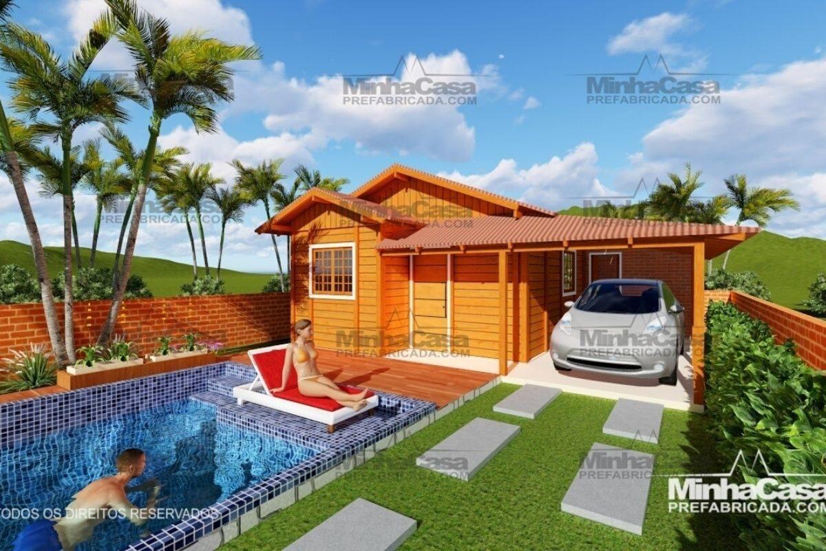 casas de madeira por menos de R$25 mil modelo pop 2.2