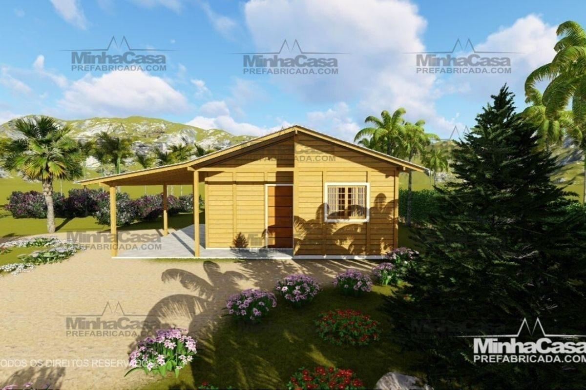 casas de madeira por menos de R$25 mil modelo pop 3.0