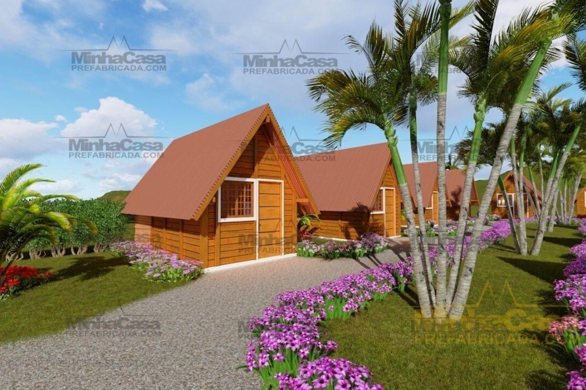 casas de madeira por menos de R$25 mil modelo pousada pop 1.0