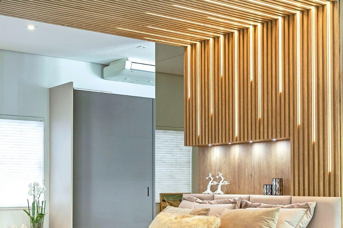 Ideia 1_ painel ripado de madeira no teto