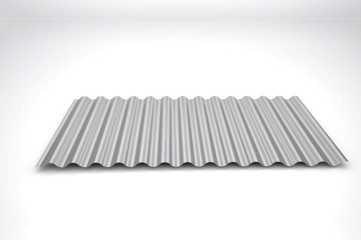 Telha de zinco ondulada