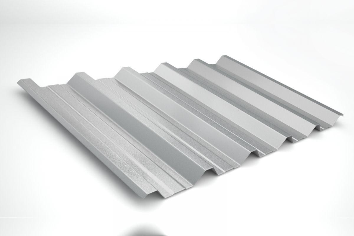 Telha de zinco trapezoidal