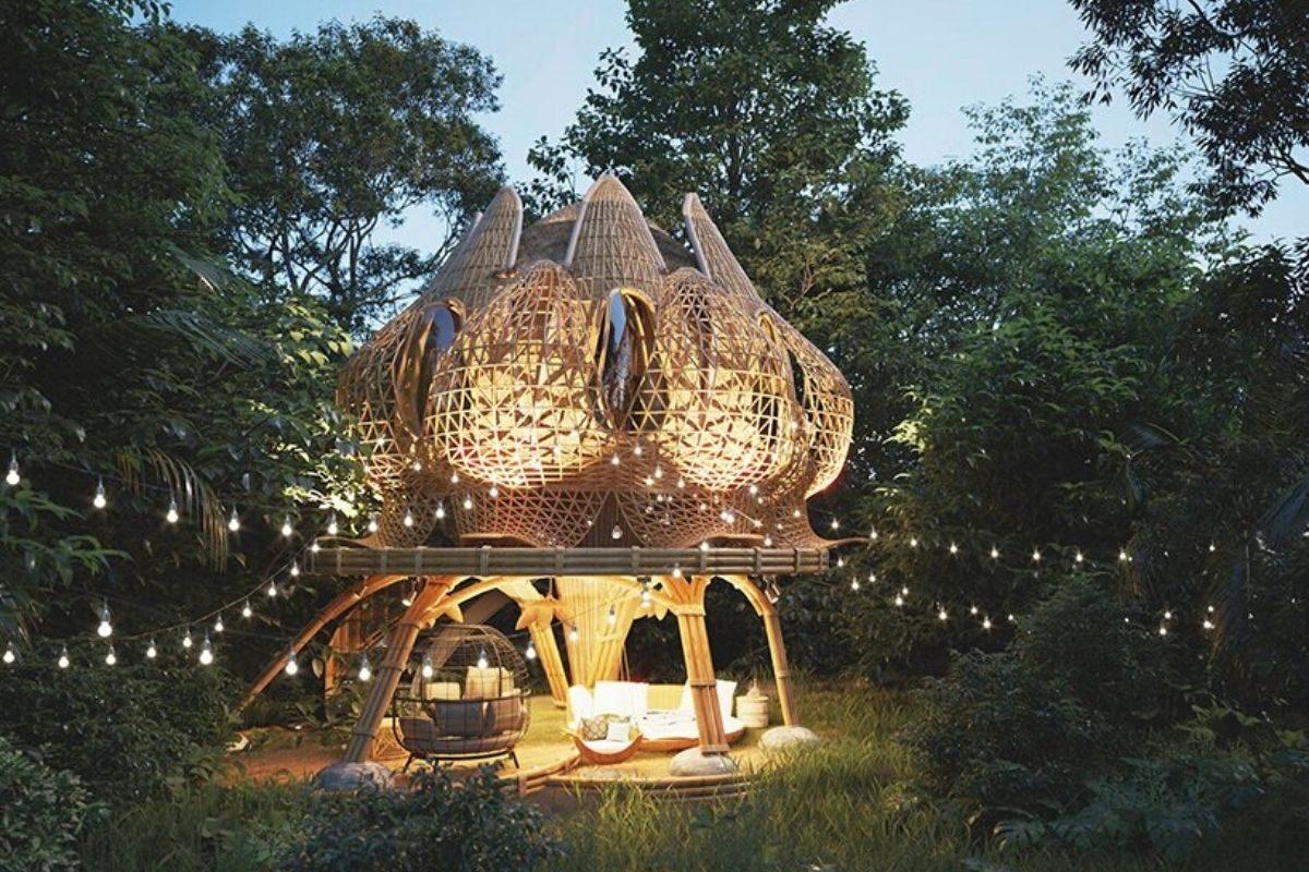 cabana de bambu foto 3
