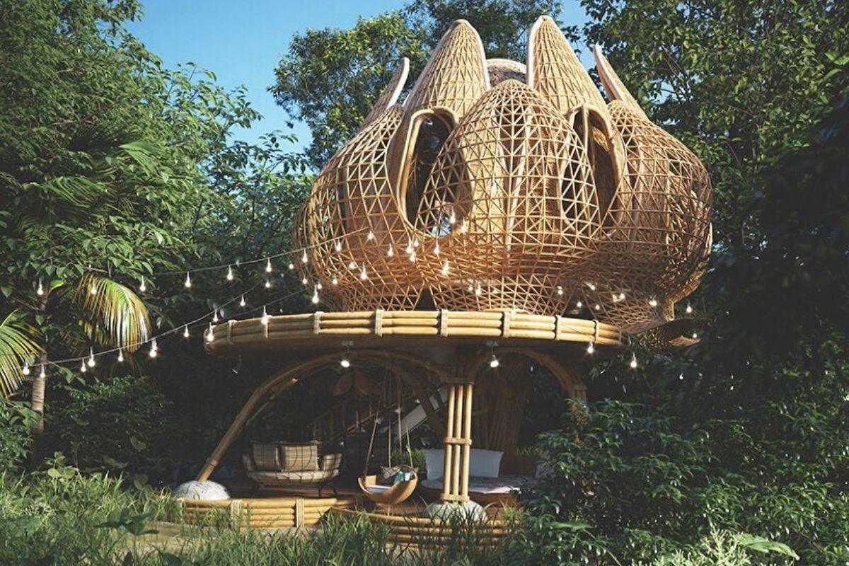 cabana de bambu foto 4