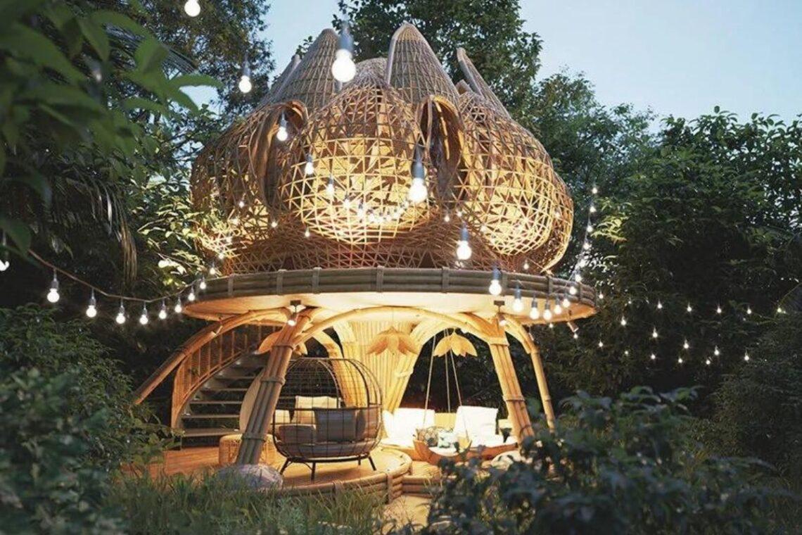 cabana de bambu foto 6