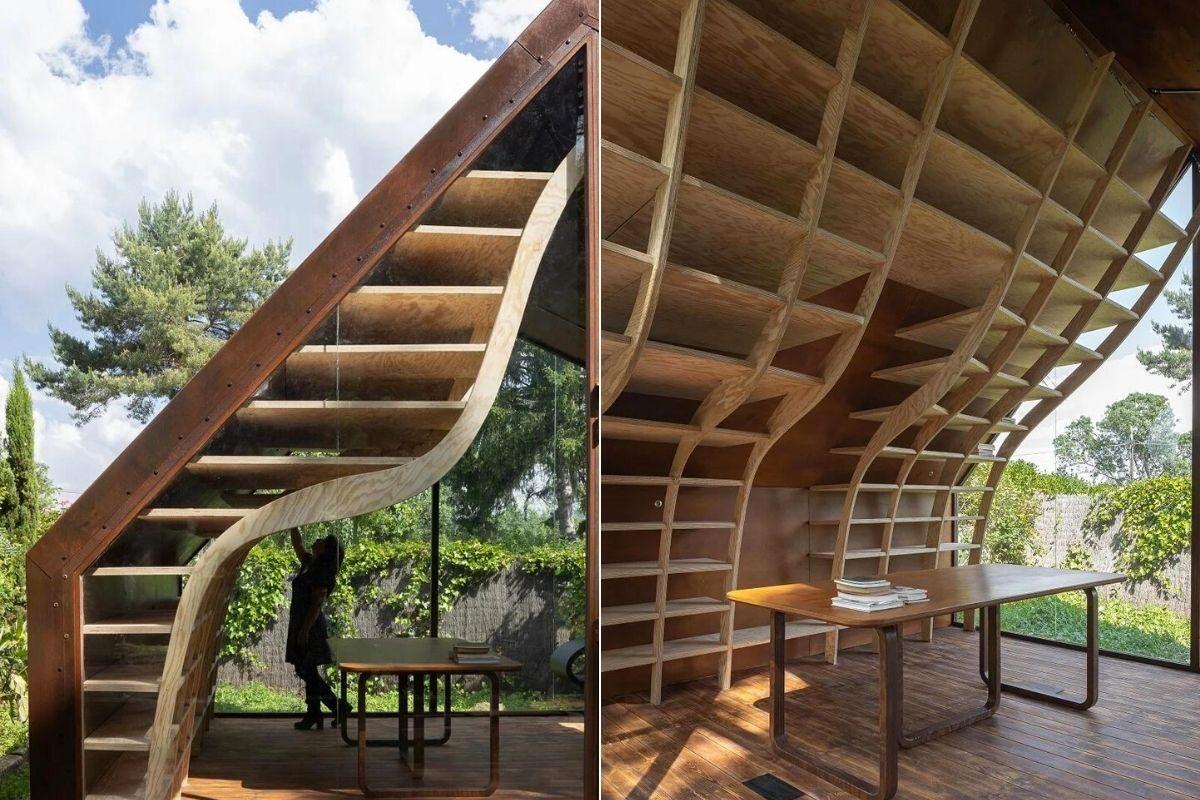 cabana de madeira e metais foto 5