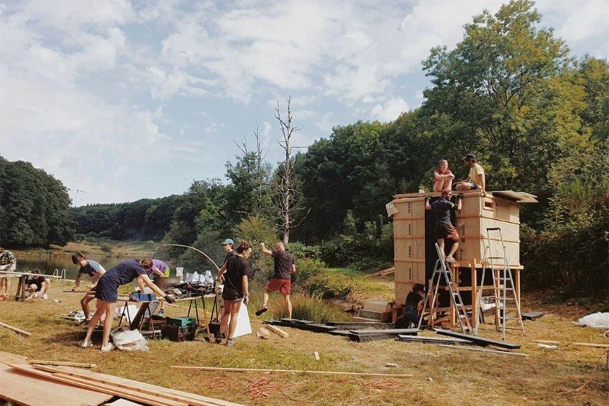 cabana de madeira saua foto 4