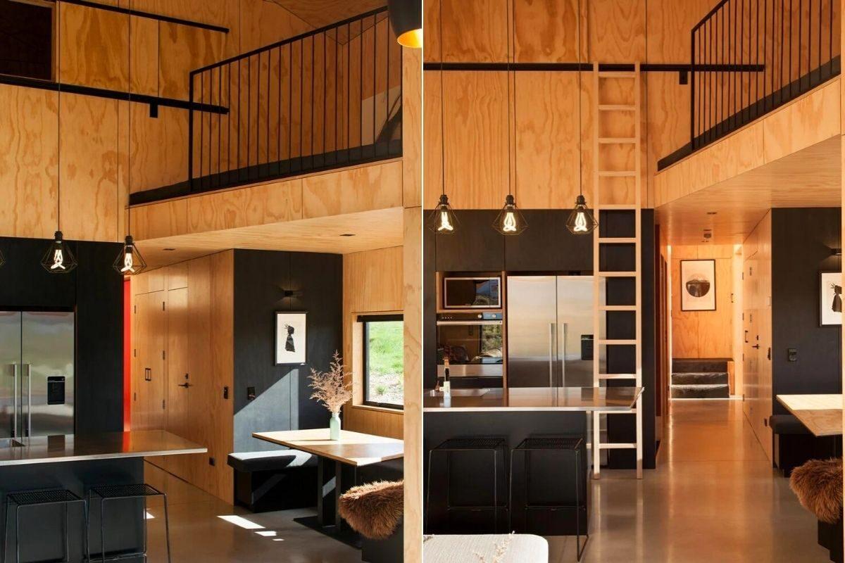 casa de madeira angular metal foto 6