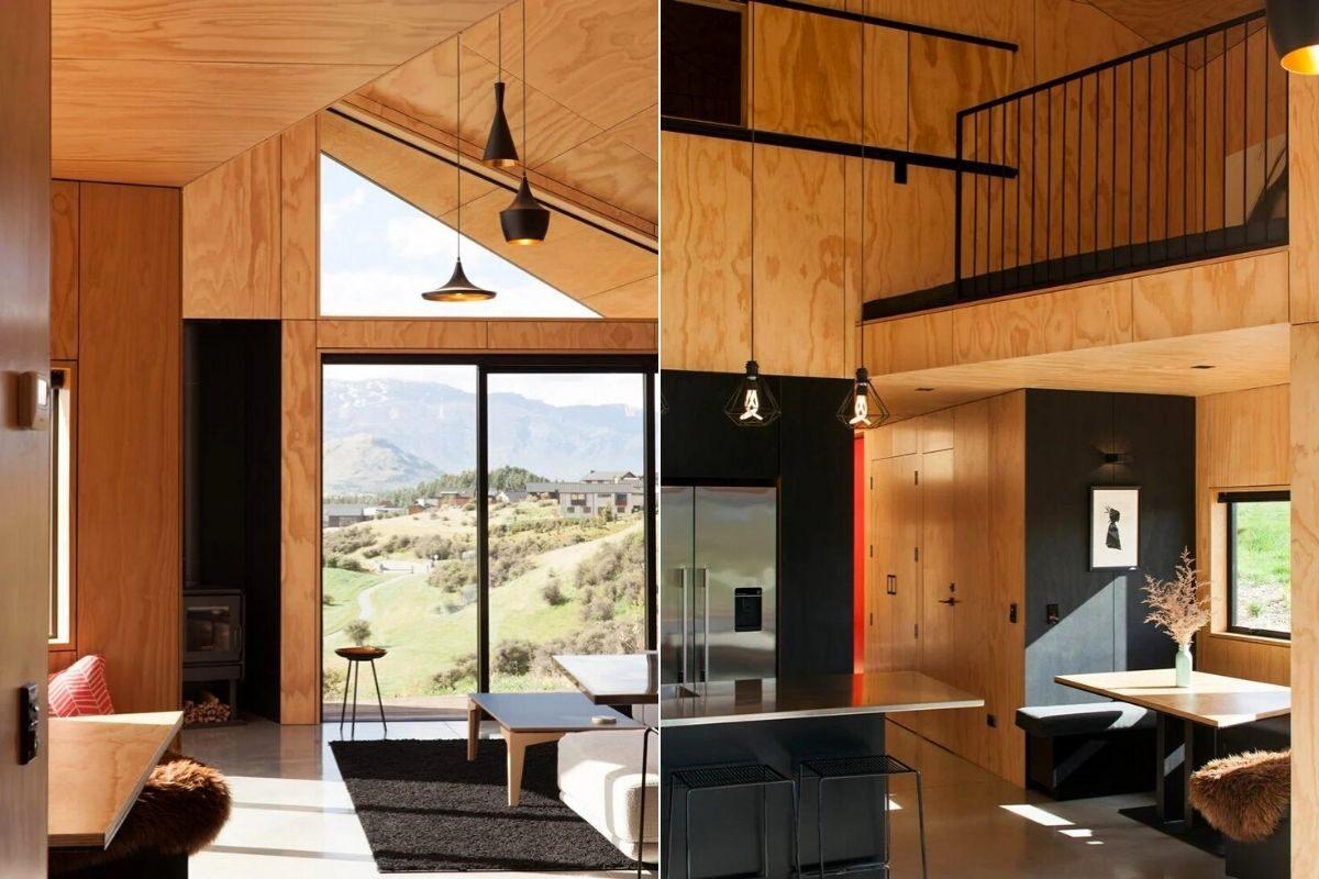 casa de madeira angular metal foto 7