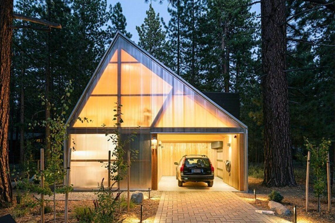 casa de madeira translucida foto 1