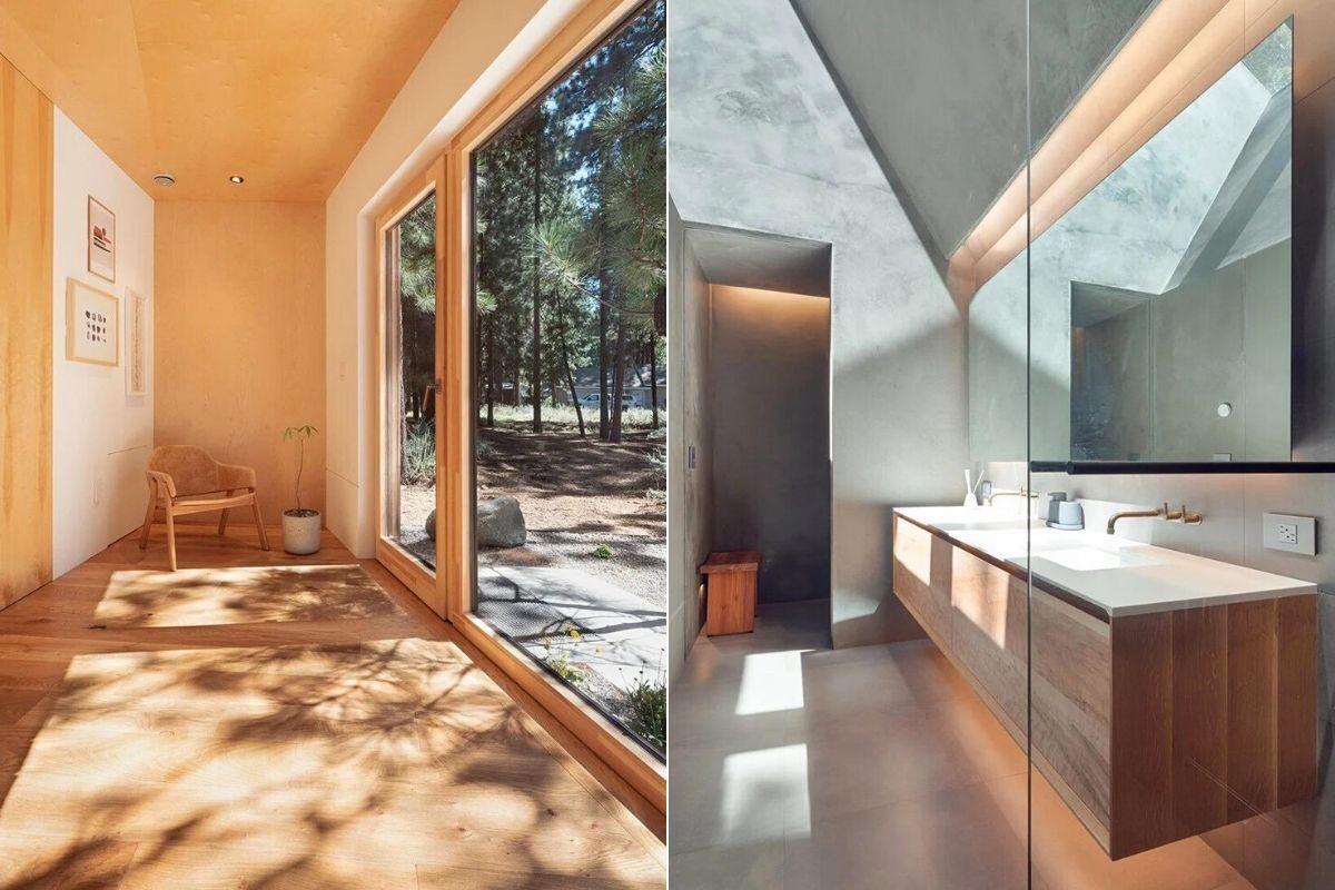 casa de madeira translucida foto 11