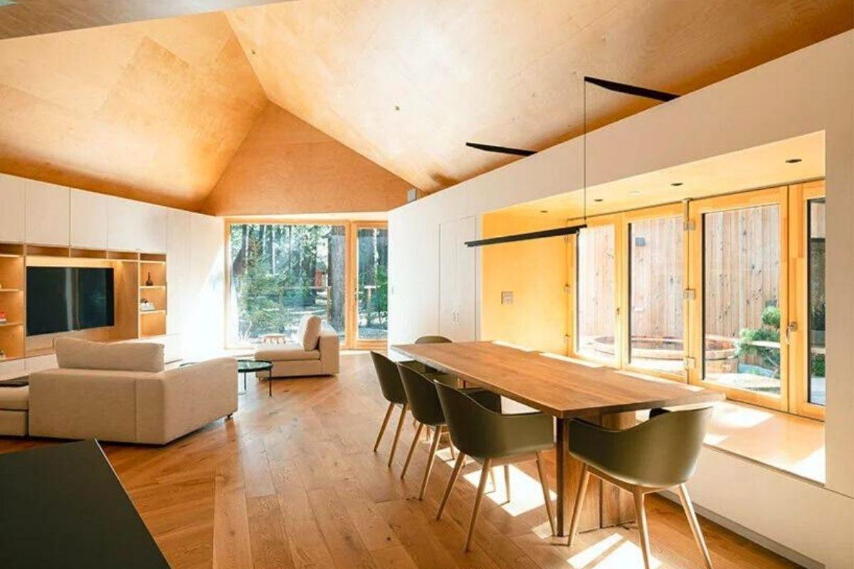 casa de madeira translucida foto 3