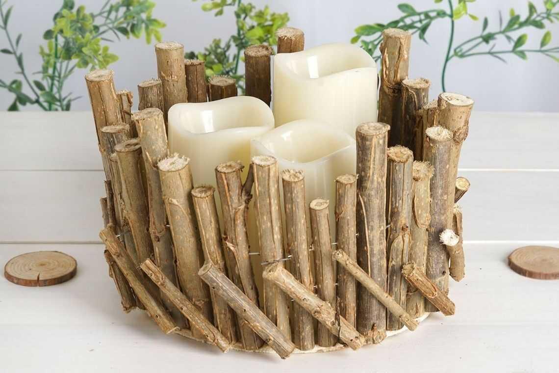 3. Vaso de madeira rústico