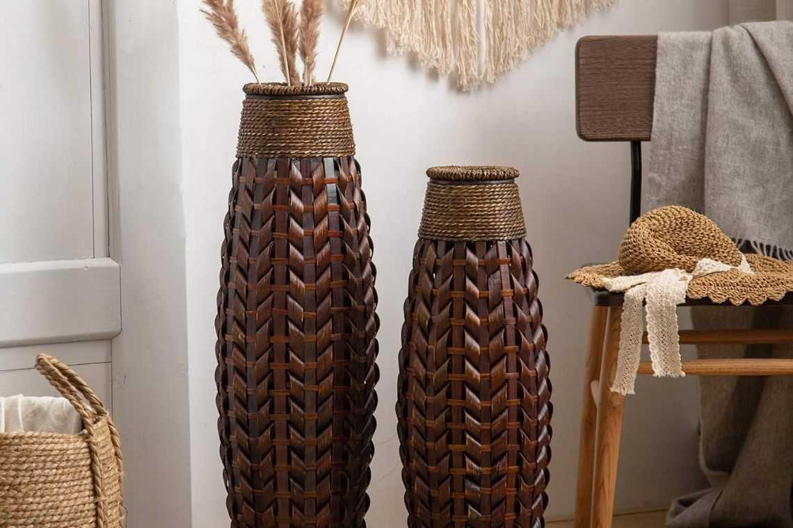 4. Vaso de madeira grande