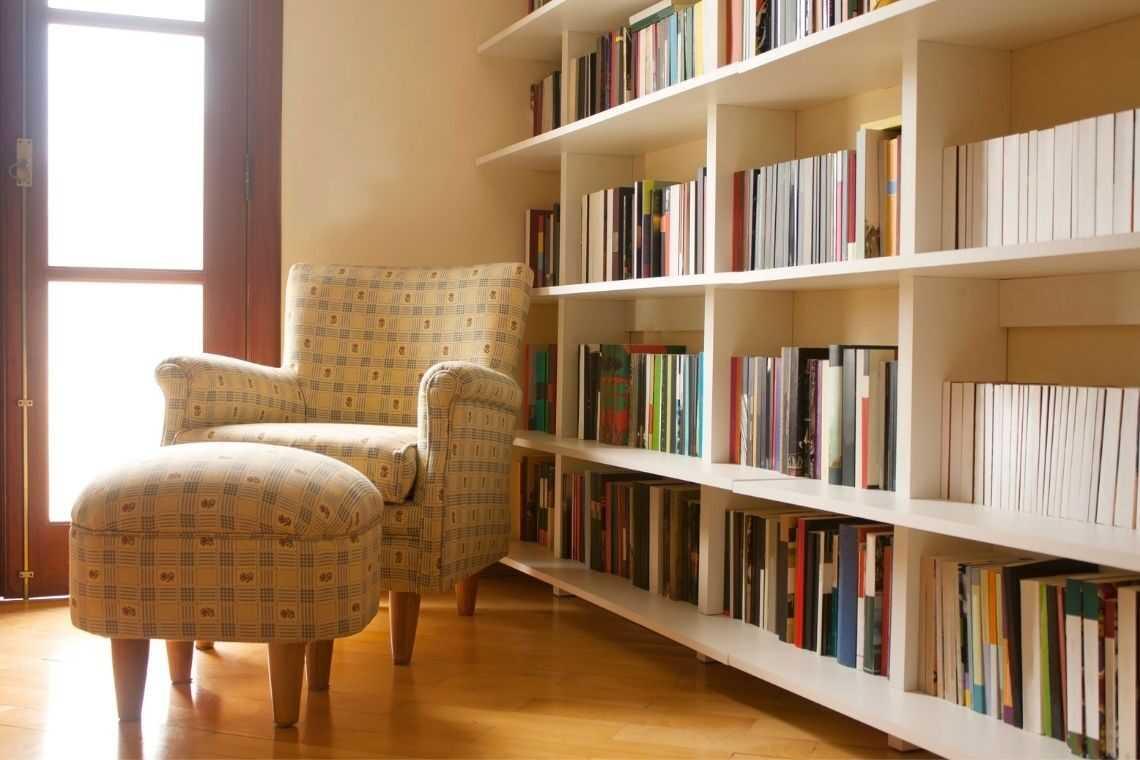 plantas de casas com 3 quartos com Biblioteca