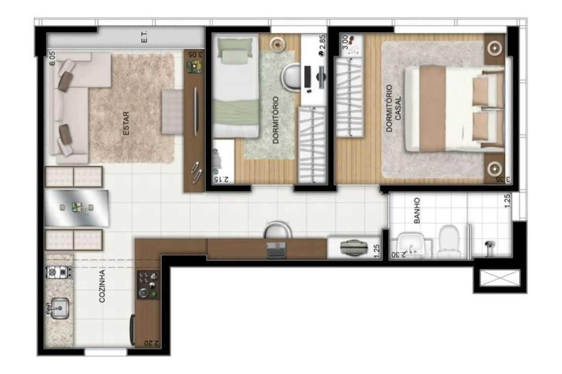 Casa em L com maior espaço interno