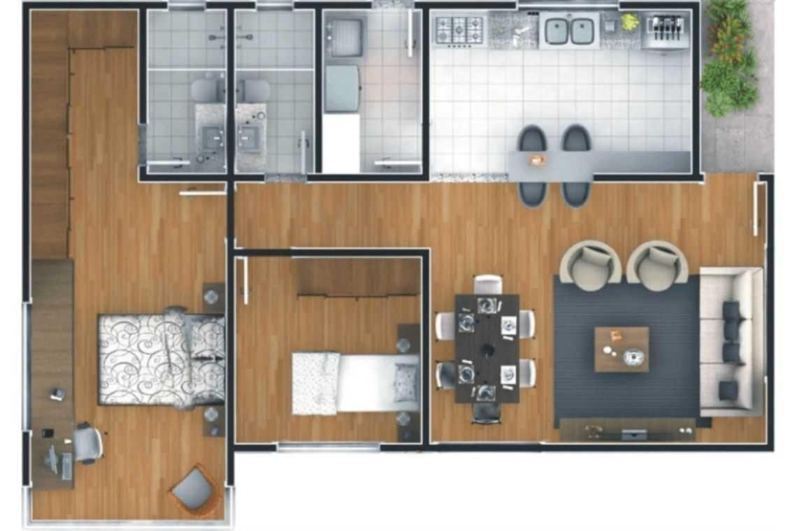 Casa em L com maior espaço interno (2)