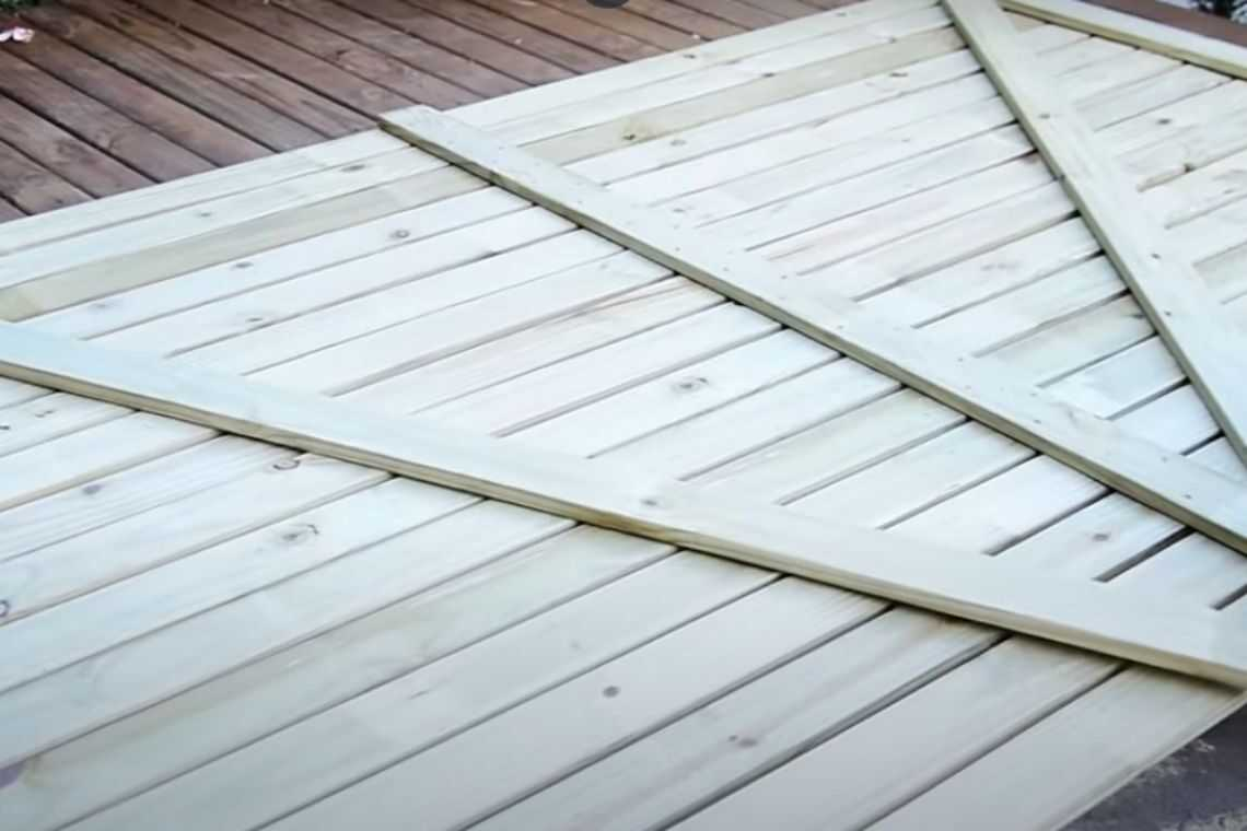 Como fazer o seu portão de madeira de correr passo 2