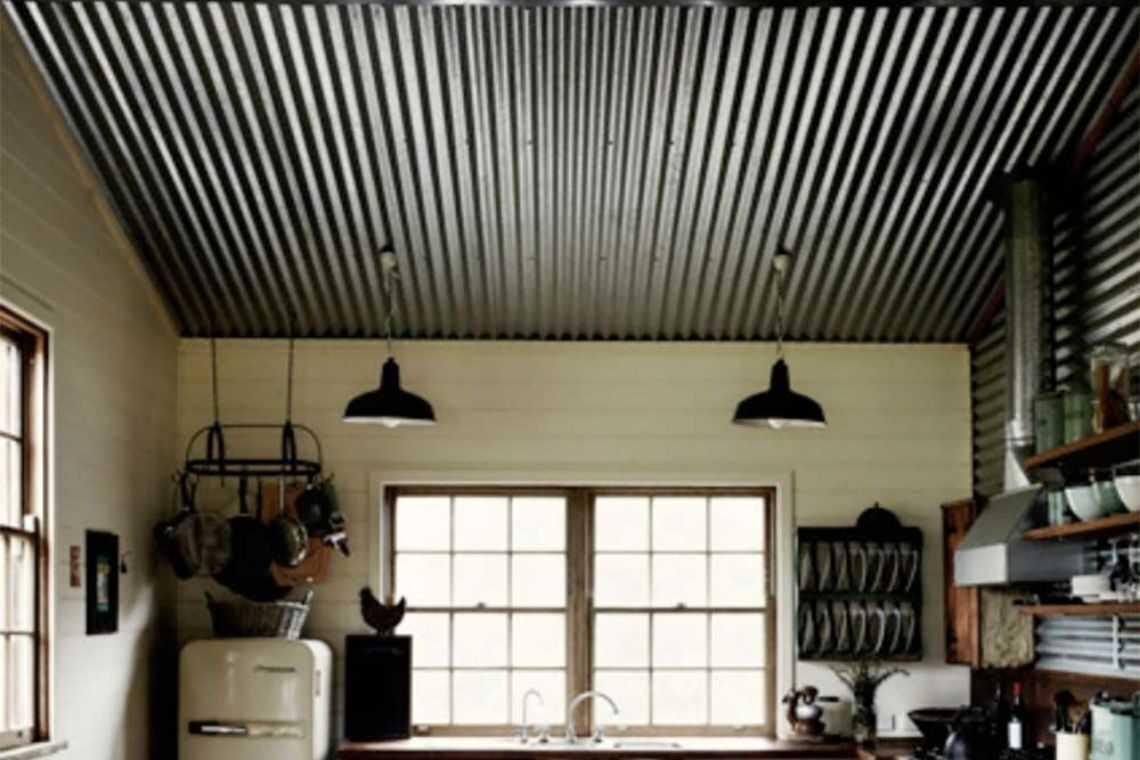 Cozinha com telha de alumínio