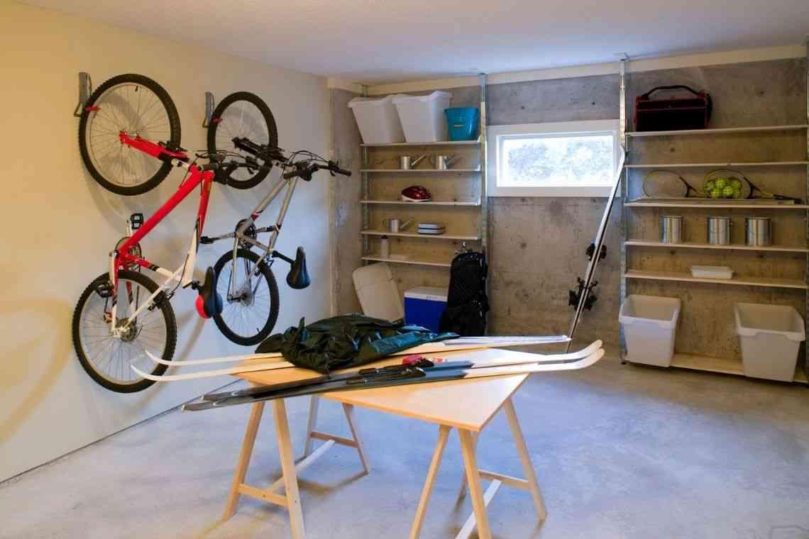 Invista em prateleiras e suporte para bicicletas