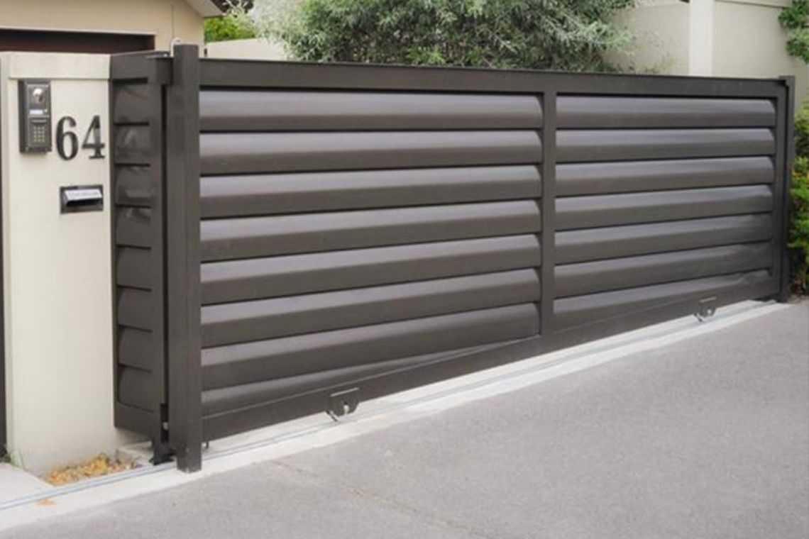 Portão de alumínio de correr