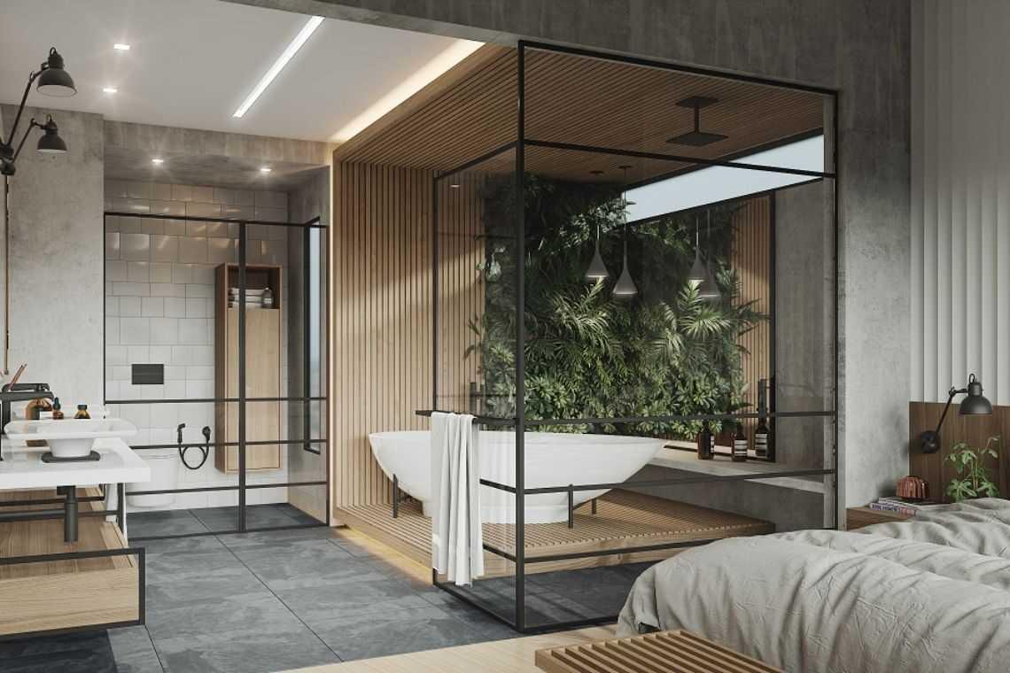 Quarto com banheira sem elementos de madeira (3)