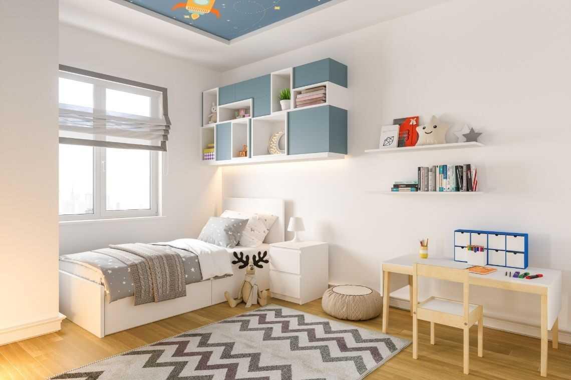 plantas de casas com 3 quartos com Quarto para as crianças