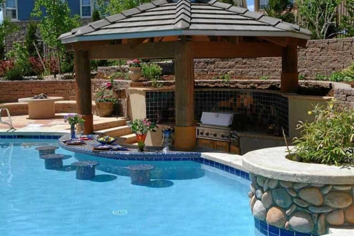 Quiosque rústico para piscina (5)
