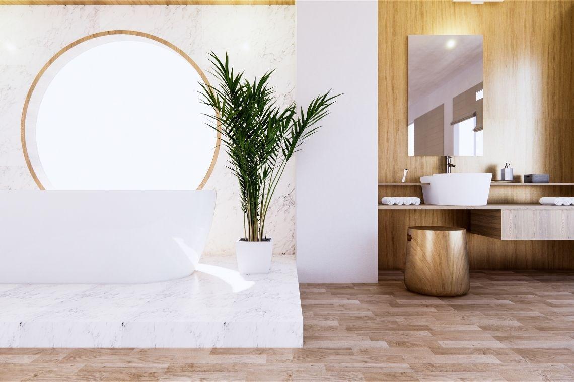 Revestimento imitando madeira