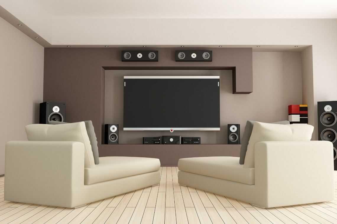 plantas de casas com 3 quartos com Sala de cinema