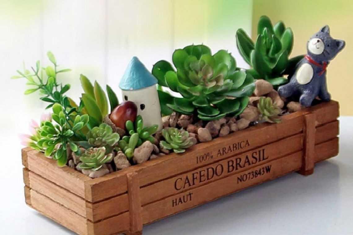 Vaso de madeira para mesa