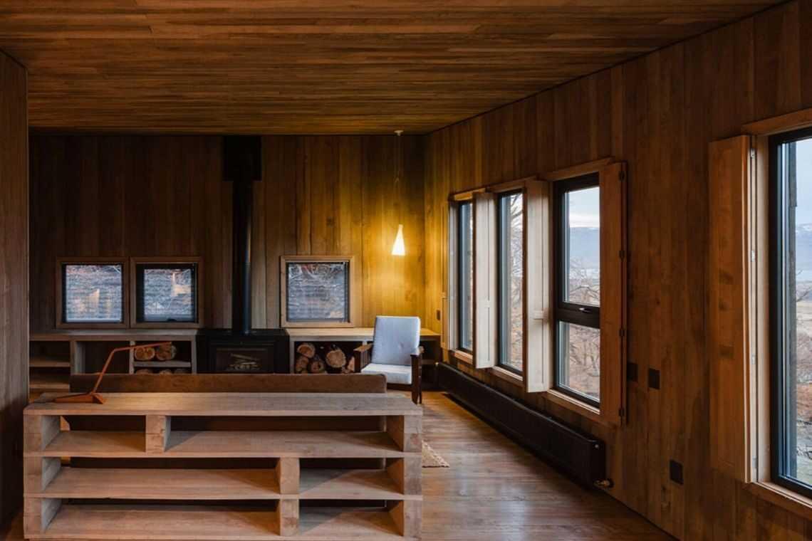 cabana de madeira awasi hotel patagonia foto 24