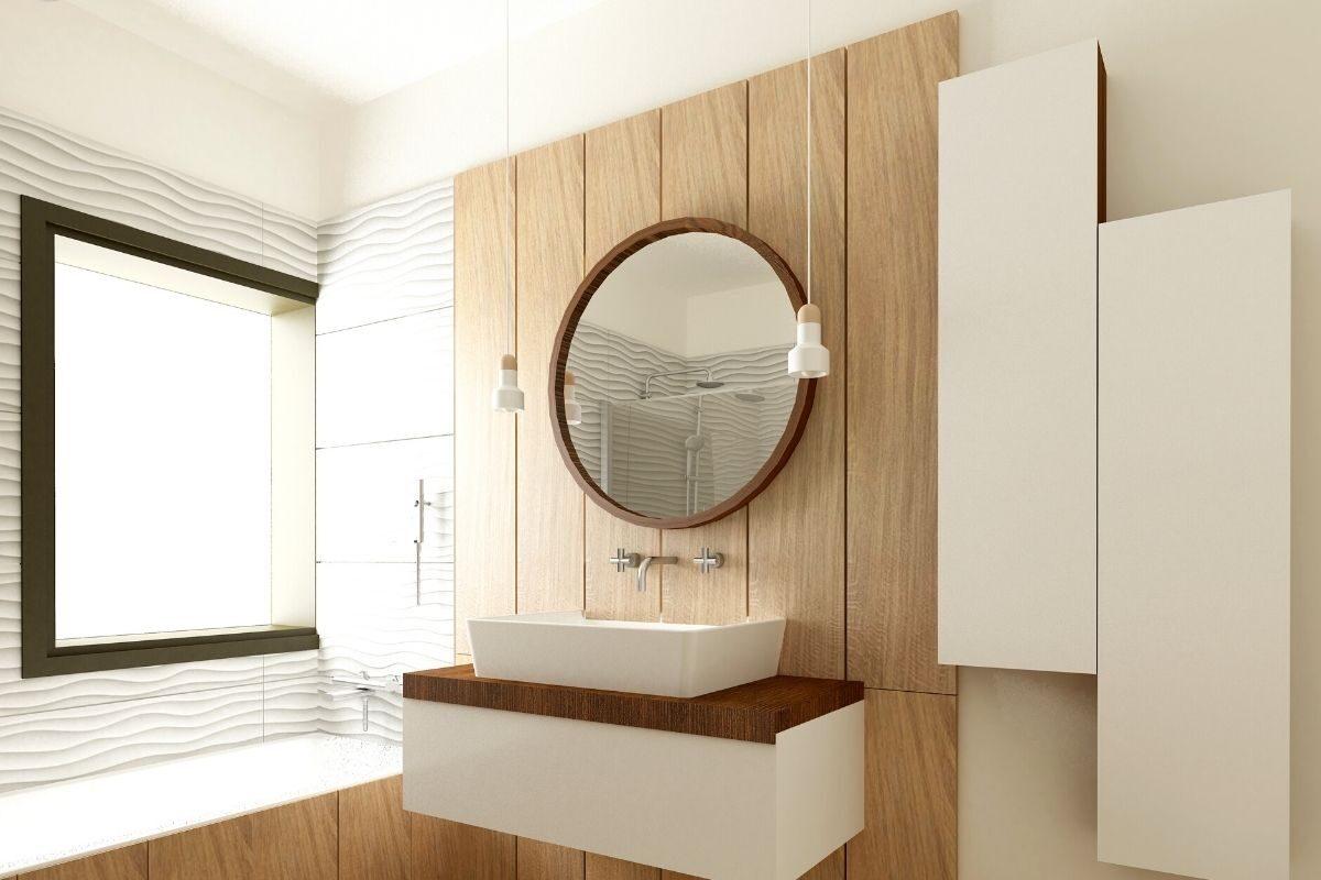 parede de madeira no banheiro de madeira 2