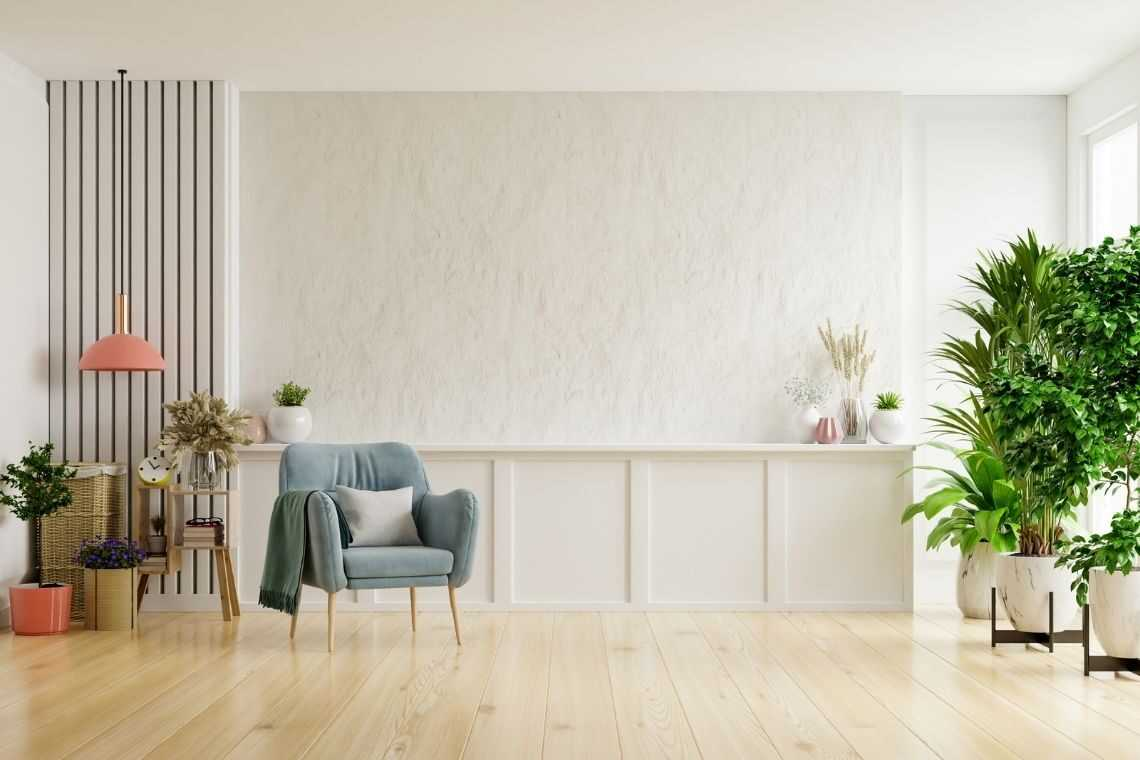 vaso de madeira na sala