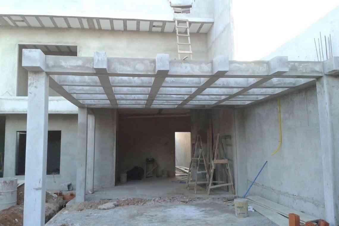 Pergolado de concreto em garagens